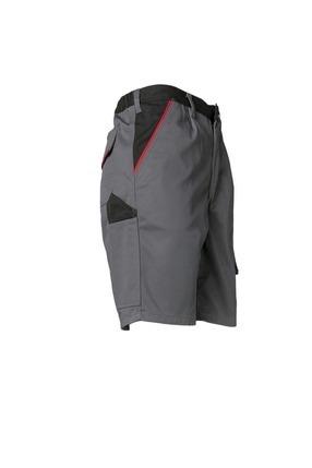 Produktbeschreibung 2372 Planam Shorts Highline schiefer//schwarz//rot Gr/ö/ßentabelle s